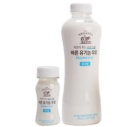 바른 유기농 우유 저지방
